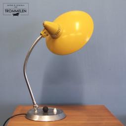 Gele vintage bureaulamp