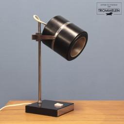 Zwarte vintage bureaulamp