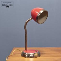 Rode vintage bureaulamp