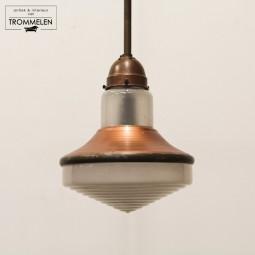 Glazen fabriekslamp
