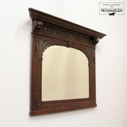 Antieke eiken spiegel