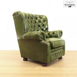Groene Chesterfield fauteuil