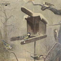 Antieke schoolplaat: zangvogels