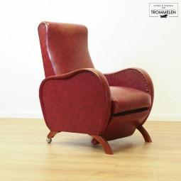 Rode vintage fauteuil