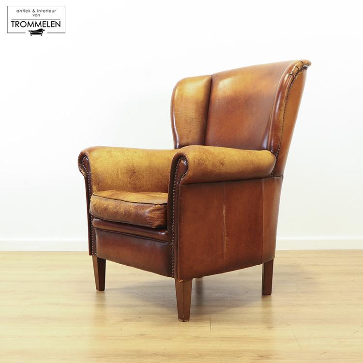 Schapenleren fauteuil