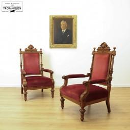 Set antieke fauteuils