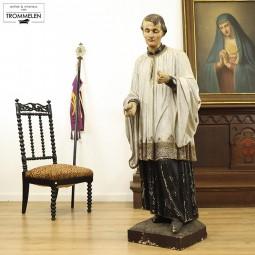 Houten heiligenbeeld