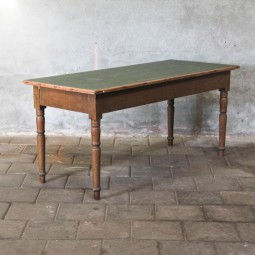 lange tafel met canvas blad
