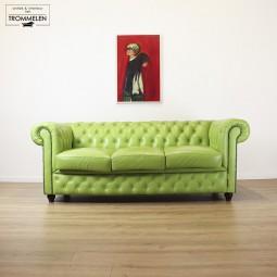 Knal groene Chesterfield