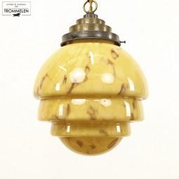 Gele Art-Deco hanglamp